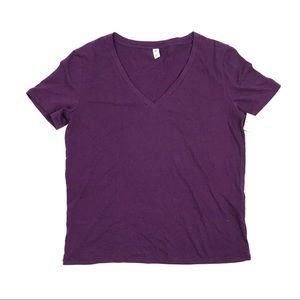 BP Women's Purple V-neck Tee